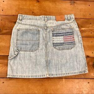 Vintage 90s Tommy Hilfiger Blue Denim Jean Skirt